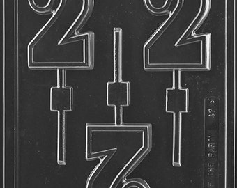 Big Number 2 Lolly Chocolate Mold