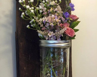 Quart Size Mason Jar Vase