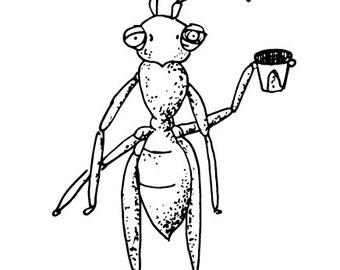 drunk ant sticker - vinyl sticker