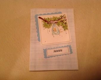 New Baby Card, Awww Baby Card, Baby Boy Card