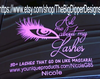 Younique Car Decal Etsy - Custom car decals for business   how to personalize
