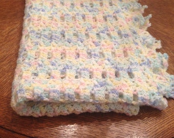 Handcrafted Multicolored Crocheted Baby Afghan