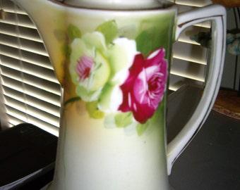 Nippon handpainted porcelain Vase