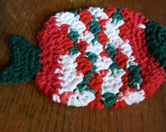 Crochet Fish Potholder/ Washcloth