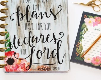 "Happy Planner Cover Set: ""I Know The Plans"", 10 Mil Laminated"