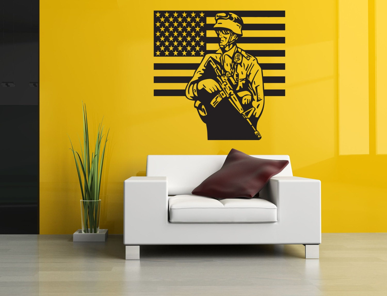 Removable Vinyl Sticker Mural Decal Wall Decor Poster Art Patriotic ...