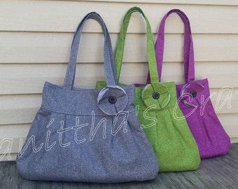 Shoulder bag,Handbags,Vacation bag,Gift for her,Girlfriend gift,Green shoulder bag,Gray shoulder bag,Magenta shoulder bag