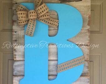 Rustic Initial Sign