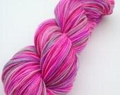 "Hand Painted Yarn - 80/20 SW Merino/Nylon - Gallant Sock in ""Sticker Shock"""