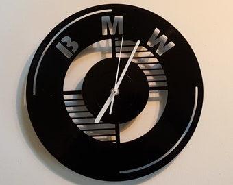 BMW Clock, Wall clock, vinyl record clock, vinyl clock