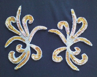 10) Gold Sequin and Bead Applique