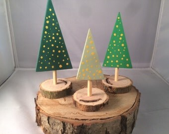 Miniature christmas tree's, set of 3