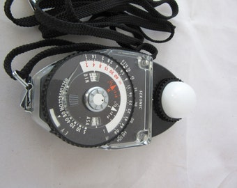 Vintage Sekonic studio light meter L- 398, studio photography, analog light meter