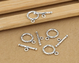 Sterling Silver Round Toggle Clasps Bracelet Clasps S528