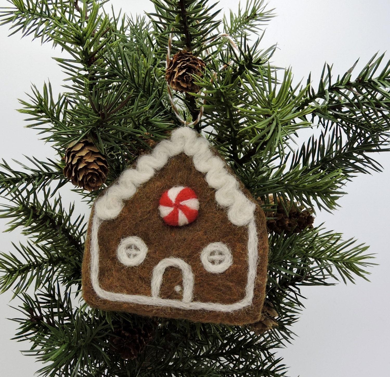 Gingerbread House Ornament Christmas Tree Decoration Felt
