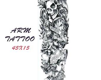 Arm tattoo 10 45X15 cm  body tattoos/temporary tattoo/ sleeve tattoo