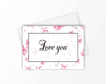 Stationery set, Cherry blossom stationery set, 4 designs, Note card set, Stationary set, Inspirational cards, Gift for her