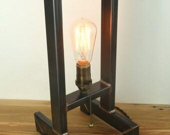 Handmade steel minimalist lamp