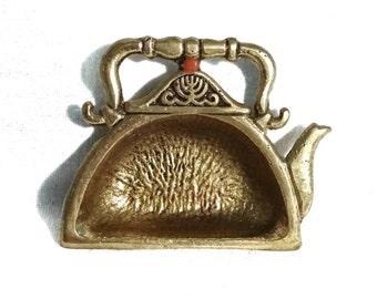 Vintage Brass Tea Bag Catcher // Vintage Brass