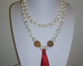 SET OF TWO white big baroque Freshwater Pearls  Ref 2249