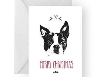 Card boston terrier | Etsy