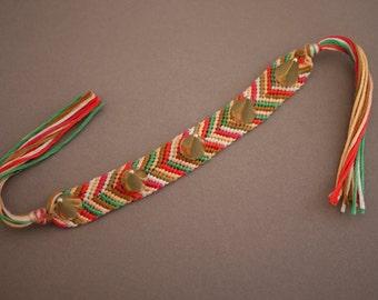 Studded Friendship Bracelet // Chevron Pattern // Other Patterns Available