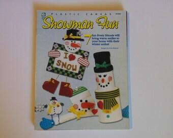 Snowman Fun Plastic Canvas House of White Birches– 1999