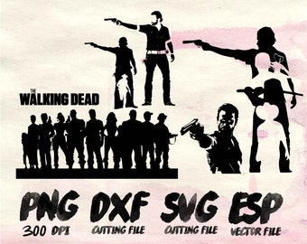 Walking dead Clipart , SVG Cutting , ESP Vectors files , T shirt , iron on , sticker ,Personal Use