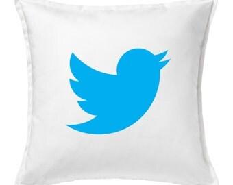 Twitter pillow cover, Custom Canvas pillow cover, Twitter custom pillow, Social media pillow cover, Twitter canvas Pillow