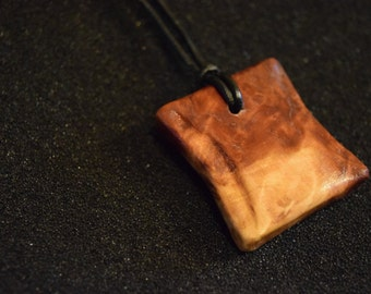 Red Mallee Burl Necklace Pendant