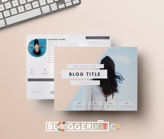 Two page media kit template horizontal press kit by for Digital press kit template free
