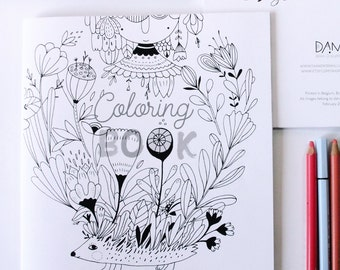 Coloringbook - dive into moments of playfull relaxation with these quirky funny creatures, plants and objects