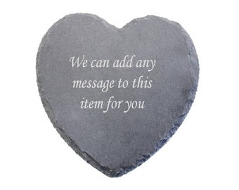 Personalised Engraved Heart Shaped Coaster