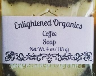 Organic Soap, Coffee Soap, 4 oz