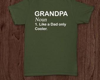 Grandpa definition funny t-shirt tee shirt tshirt Christmas dad father dad family fun father's day humor grandfather grandpa uncle grandad
