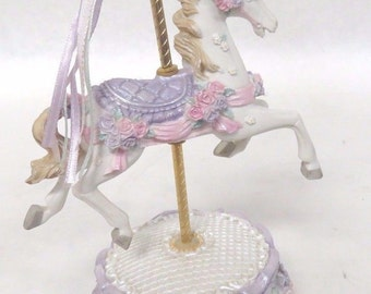 Vintage Rocking Horse Carousal Music Box