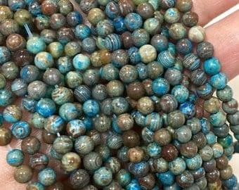 4mm Blue Sky Jasper Gemstone Beads - 15.5 inch Full strand - Round Gemstone Beads