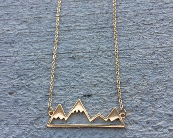 Keep going mountain necklace, Mountain Range, Snowy Mountains, Explore, Active Jewelry