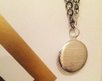 Silver 2-in-1 Locket Necklace