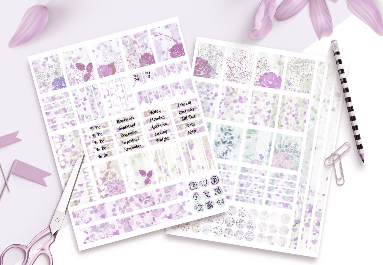 PLANNER STICKER TEMPLATES Personal Use Blank Diy Sticker Templates ... for Planner Stickers Template  585hul