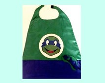 Ninja Turtle inspired mask (and/or) cape, Leonardo, Leo, TMNT Blue cape and mask, Ninja Turtle, superhero kids clothes, superhero cosplay