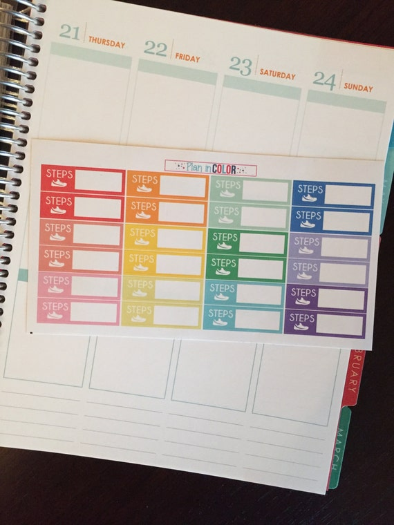 Daily Steps Planner Stickers. Free Printable! | Sweet T ...