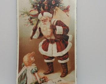 Metal Signage, Vintage Santa Claus Soap
