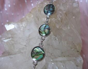 Abalone Bracelet, Abalone Yin Yang Bracelet, Paua Shell Yin Yang Bracelet, Paua Shell Bracelet, Shell Bracelet, Abalone Bracelet