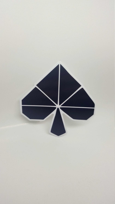 origami spade sticker. Black Bedroom Furniture Sets. Home Design Ideas