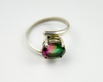 Watermelon Quartz Ring