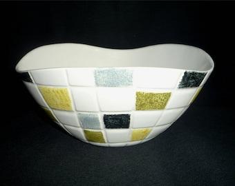 Large Midwinter Stylecraft Mosaic Fruit Bowl by Jessie Tait