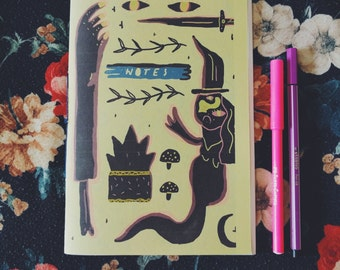 Witch Notes Notebook