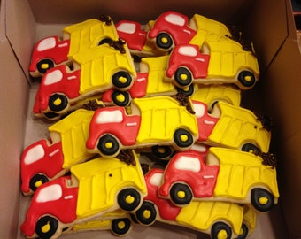 Dump Truck theme Decorated Cookies