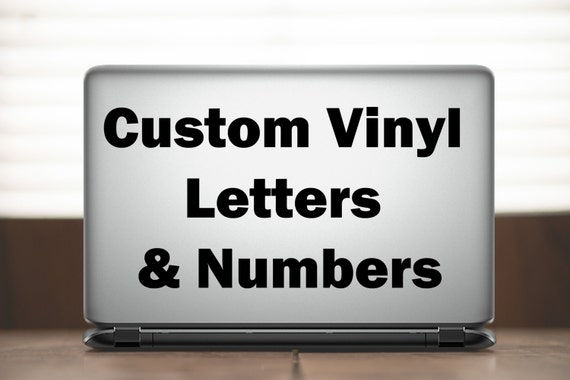 custom vinyl letters custom vinyl letters amp numbers decal 21278